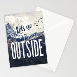 Lets go Outside Stationery Cards