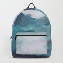 Aqua Blue Green Abstract Art Painting Backpack