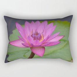 Bright Pink Water Lily Rectangular Pillow