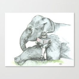 Elephant Girl Canvas Print