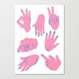 trans hands Canvas Print
