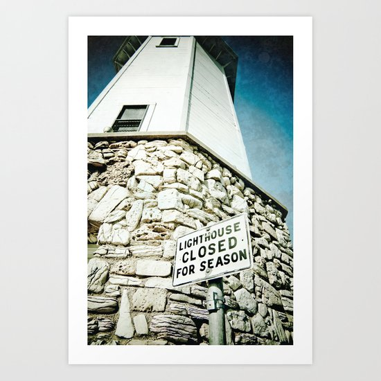 Closed for the Season Art Print