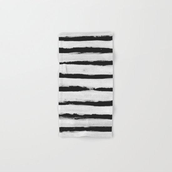 BW Stripes Hand & Bath Towel