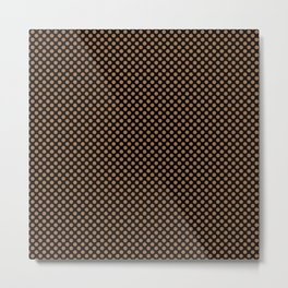 Black and Brown Sugar Polka Dots Metal Print