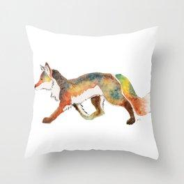 Watercolour Fox Throw Pillow