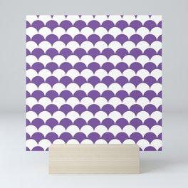 Purple Fan Shell Pattern Mini Art Print