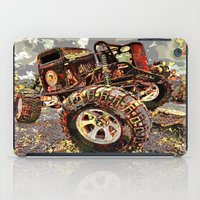 truck iPad Cases featuring mud truck by Vector Art