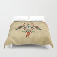 dream catcher Duvet Covers featuring DREAM CATCHER by NoMoreWinters