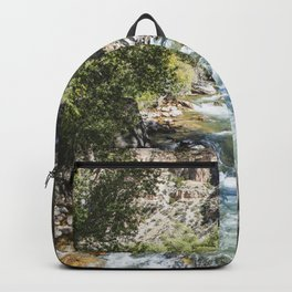 High-country stream and cottonwoods in rugged north-central Wyomings rugged Big Horn County Backpack