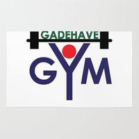 gym Area & Throw Rugs featuring Gadehave Gym by Søren Grarup Munk
