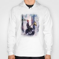 eric fan Hoodies featuring Music man in the woods by Eric Fan & Viviana González by Viviana Gonzalez