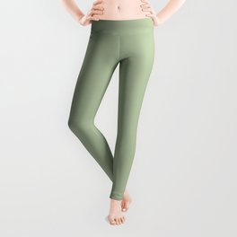 CELADON GREEN solid color Leggings