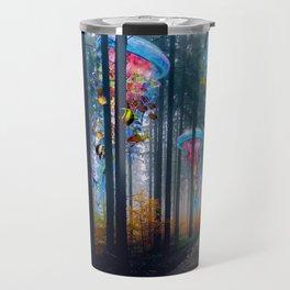 Forest of Super Electric Jellyfish Worlds Travel Mug