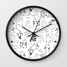 Happy Cats Wall Clock