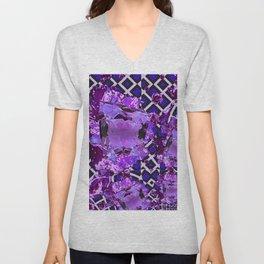 Amethyst Purple Gems February Birthday Babies Unisex V-Neck