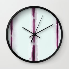 Hand dyed stripes Wall Clock