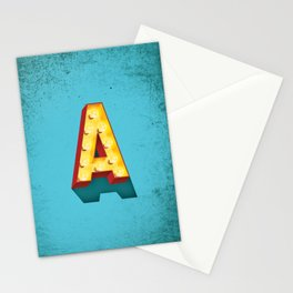 A in lights Stationery Cards