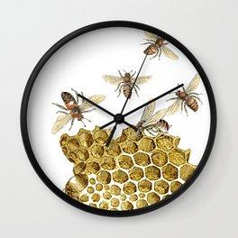 BEES and Honeycomb Wall Clock