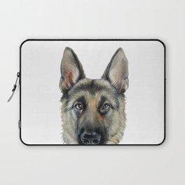 Shepard Dog illustration original painting print Laptop Sleeve