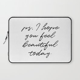Beauty Quote Laptop Sleeve