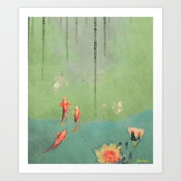 Koi Dreams Art Print