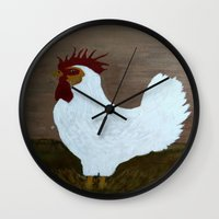 black butler Wall Clocks featuring Butler by Artbybetsyspantry