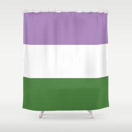 Genderqueer Pride Shower Curtain