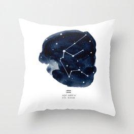 Zodiac Star Constellation - Aquarius Throw Pillow