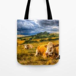 Resting Cows Tote Bag