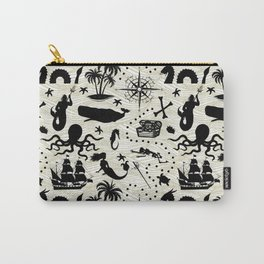 High Seas Adventure // Yellow Waves Carry-All Pouch