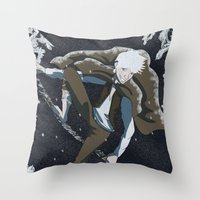jack frost Throw Pillows featuring Jack Frost by Chouly-Shop