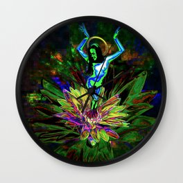 St. Mary of the Lotus (Sta. María de el loto) Wall Clock