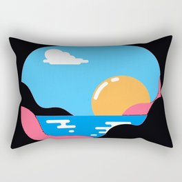 sun goes Rectangular Pillow