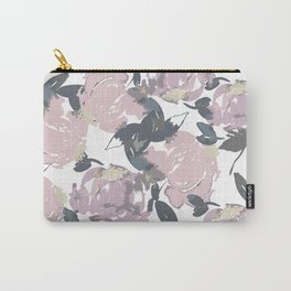 Muted Floral Pattern Carry-All Pouch