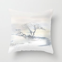 """""""Scots Pine"""", Fårösund, Gotland, Throw Pillow"""