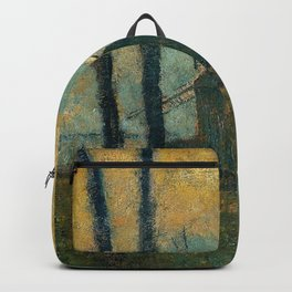 Landscape At Valery Sur Somme By Edgar Degas   Reproduction   Famous French Painter Backpack