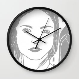 WUTHERING HEIGHTS - LINO (GREY VERSION)  Wall Clock