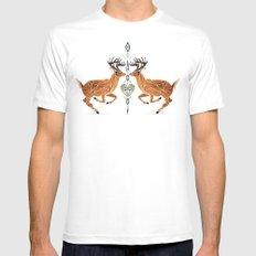 deer love Mens Fitted Tee White MEDIUM