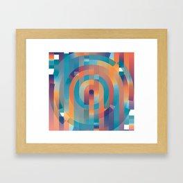 Summer Gradients Framed Art Print