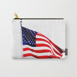 US Flag (Slightly Glitched) Carry-All Pouch