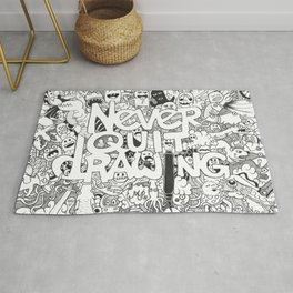 Doddle | Never Quit Drawing Rug