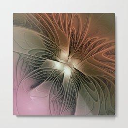Abstract Angel, Fractal Art Metal Print