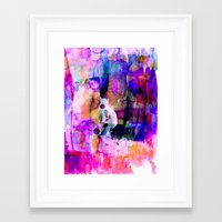 celestial Framed Art Prints featuring Celestial by Amy Sia