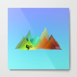 MTB Moutains Colors Metal Print