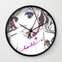 mosaic Wall Clocks featuring MOSAIC by Chandelina