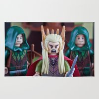 thranduil Area & Throw Rugs featuring I am not a f***ing Princess by InkBlot