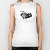 delorean Biker Tanks featuring Delorean (The 2015 Collection) by Cal Chan