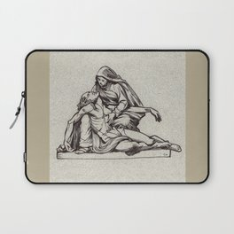 Pieta, St-Étienne, Beauvais, France. Laptop Sleeve