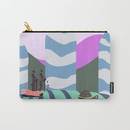 hare and tortoise fable Carry-All Pouch