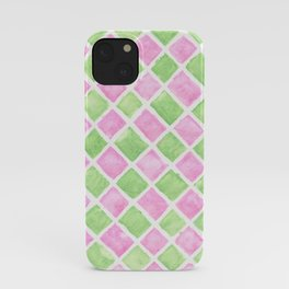 Pastel squares iPhone Case